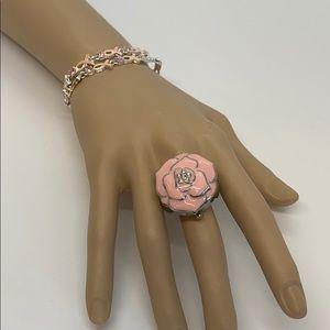 Lot of 3 Avon Breast Cancer Bracelets & Ring Watch